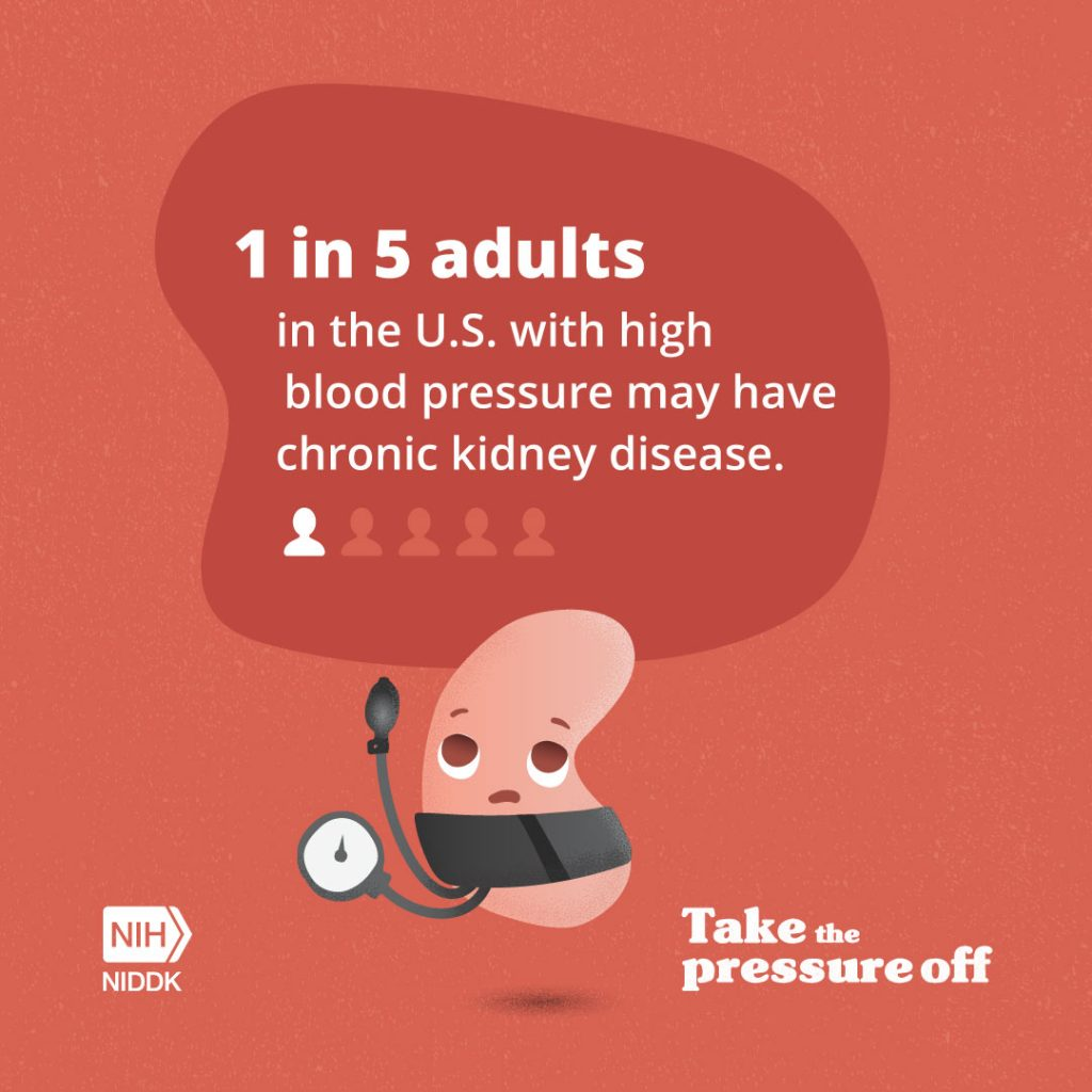 March Is National Kidney Month And High Blood Pressure Raises The Risk For Kidney Disease